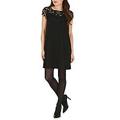 Voulez Vous - Black front lace panel dress