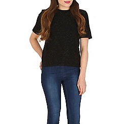 Poppy Lux - Black alyssa shimmer top