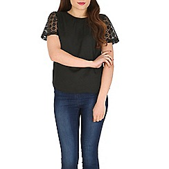 Poppy Lux - Black pamela dot sequin top