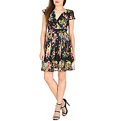 Pussycat London - Black floral print dress