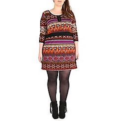 Samya - Multicoloured aztec print tunic dress