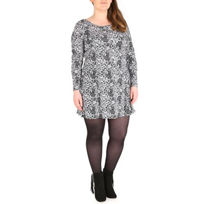 Samya Grey abstract print dress - . -