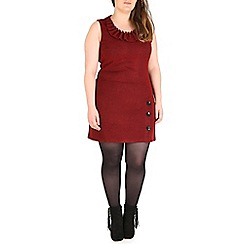 Samya - Red ruffle neck tunic