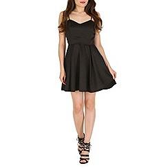 Mela - Black back bow prom dress