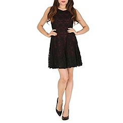 Mela - Red lace tull dress.