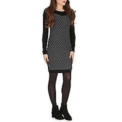 Indulgence - Black front panel dress