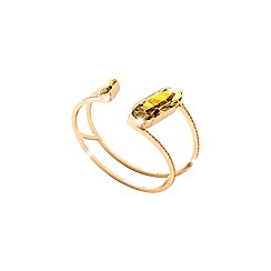 Rebecca - Yellow bronze bangle with swarovski elements