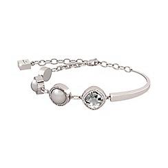 Rebecca - Black bronze bracelet with stones and pearls