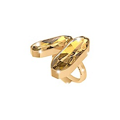 Rebecca - Yellow gold plated bronze ring with swarovski elements