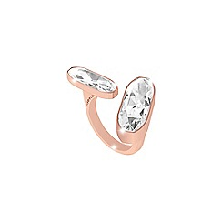 Rebecca - Rose gold plated bronze ring with swarovski elements