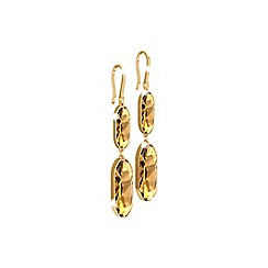 Rebecca - Yellow gold plated bronze earrings with swarovski elements
