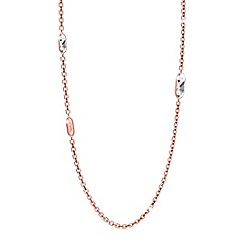 Rebecca - Rose gold plated bronze necklace with swarovski elements