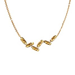 Rebecca - Yellow gold plated bronze necklace with swarovski elements