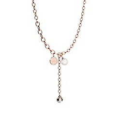 Rebecca - Rose bronze necklace with pearl and stones