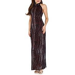 Ballentina - Multicoloured multiprint long maxi dress