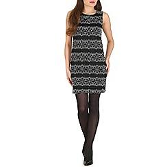 Mela - Black lace detailed bodycon dress