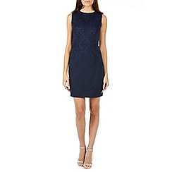 Sugarhill Boutique - Navy sleeveless  jacquard dress