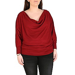 Samya - Maroon cowl neck long sleeve top