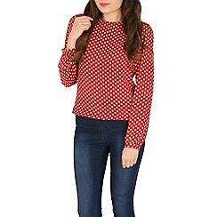 Poppy Lux - Red evette top