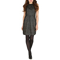 Poppy Lux - Black philippa tweed jacquard dress