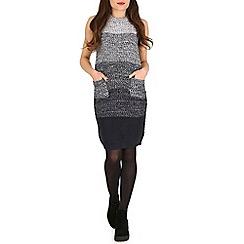 Stella Morgan - Navy colour block knitted dress
