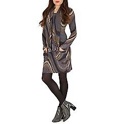 Stella Morgan - Blue chevron print pocket dress
