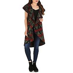 Stella Morgan - Olive aztec print oversized jacket