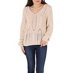 Izabel London - Cream knitted pullover