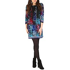 Izabel London - Blue abstract floral print dress