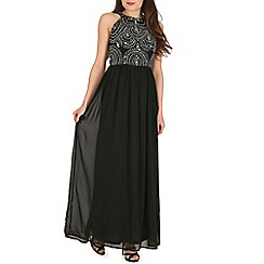 Blue Vanilla - Black key hole embellished evening dress