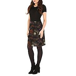 Izabel London - Black peter pan collar dress