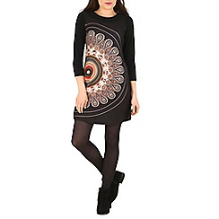 Izabel London - Black eastern print tunic