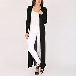 Blue Vanilla - Black metallic ribbed midi cardigan