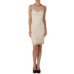Zibi London - Gold lace shift dress