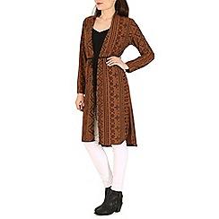 Indulgence - Brown long sleeve cardigan
