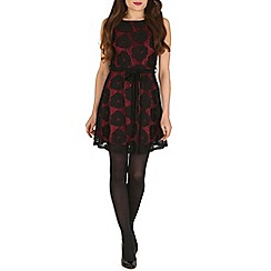 Mela - Black rose lace dress