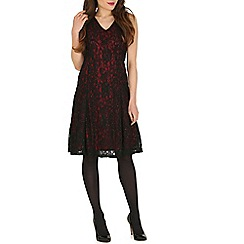 Mela - Maroon burgundy sparkle lace dress