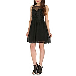 Pussycat London - Black embellished flippy dress