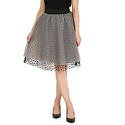 Mela - Black heart print skater skirt