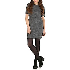Mela - Grey check print tunic dress