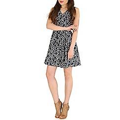 Mela - Navy circle print dress