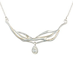 Banyan - Silver silver zirconia drop necklace