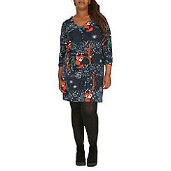 Samya - Blue print tunic dress