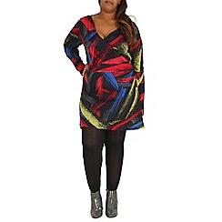 Samya - Multicoloured abstract print tunic dress