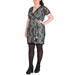 Samya - Black lace finish dress