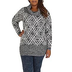 Samya - Black diamond knitted dress