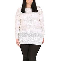 Samya - White sparkling detail knit pullover