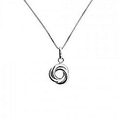 Azendi - Silver little love-knot pendant