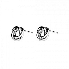 Azendi - Silver love-knot earrings