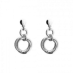 Azendi - Silver love knot drop earring